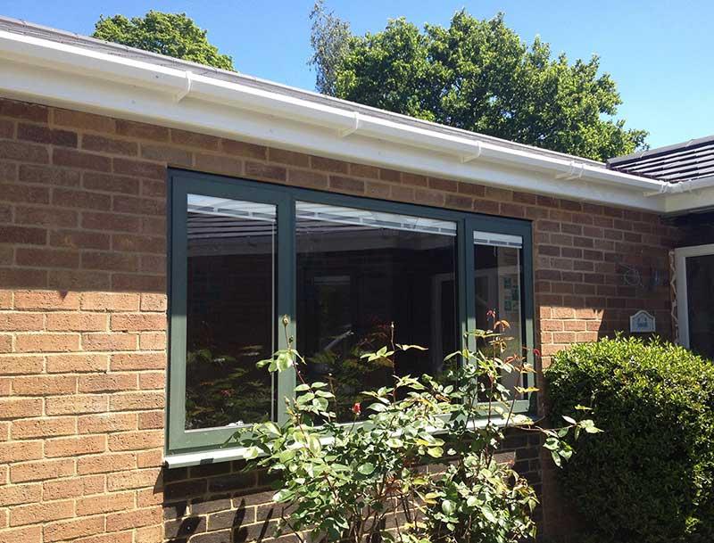 Olive Green Sensations Aluminum windows, Unthank Road, Norwich