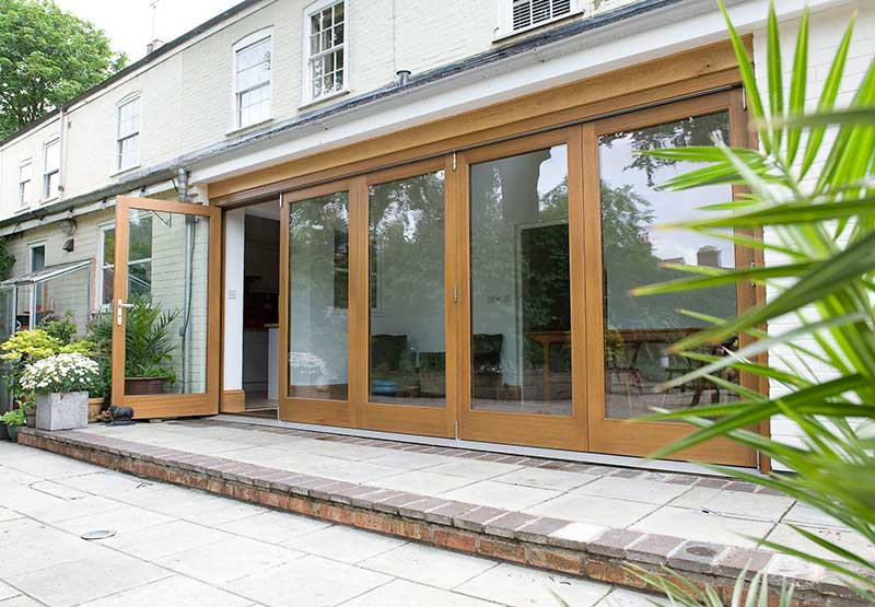 Five part Hardwood Bi-fold door in Eaton
