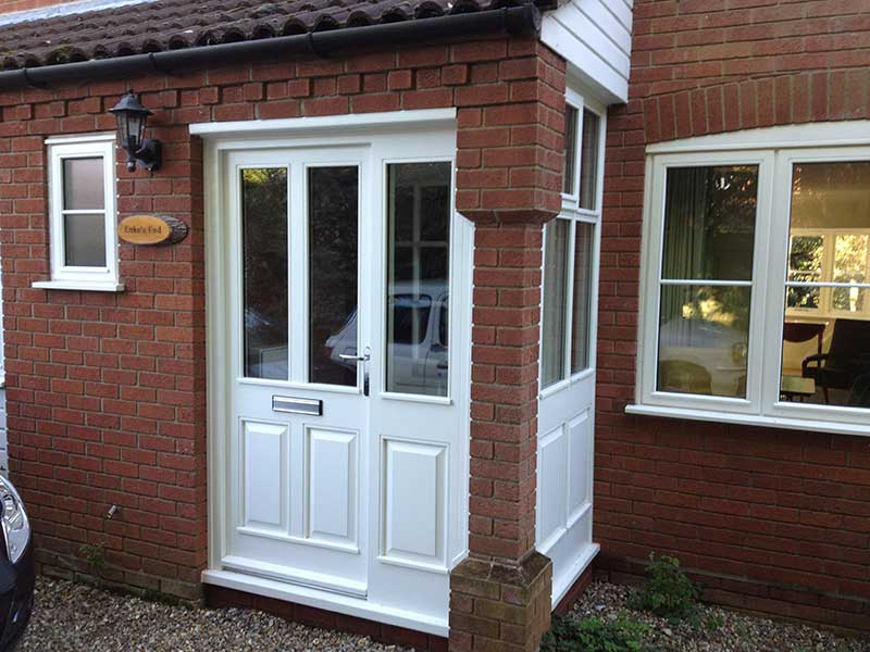White Hardwood Porch in Briston, Norfolk