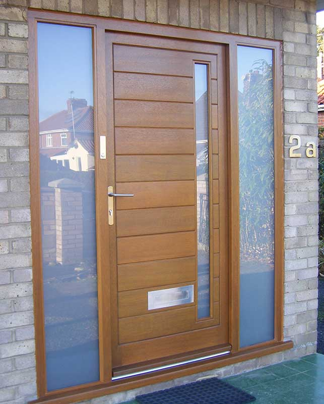 Light Oak Hardwood door in Norwich