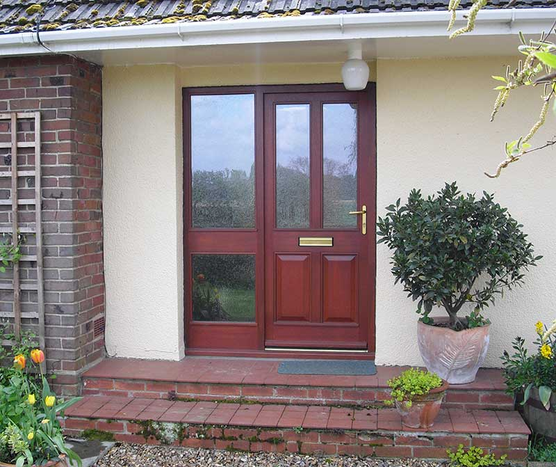 Mahogany door and sidelight in Sprowston