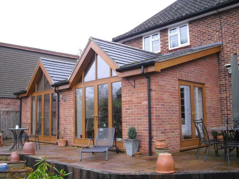 Light oak hardwood French doors in Thorpe