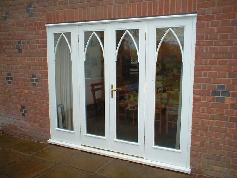 Gothic arches French door set in Diss