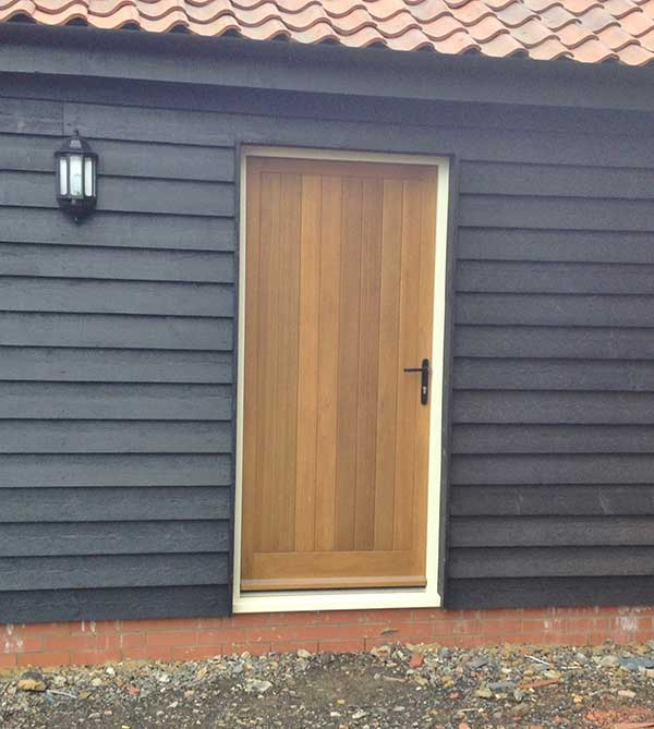 Shiplap boarding door in Thetford