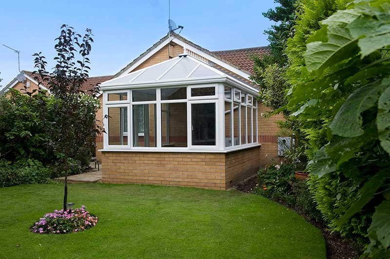 White Edwardian with Opal Polycarbonate roof in Colitshall