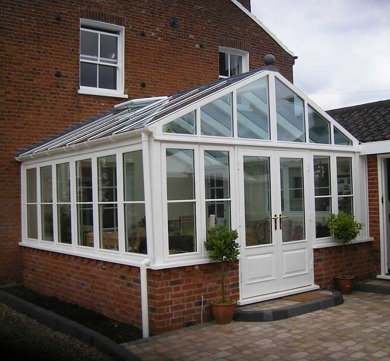 Gable End White Hardwood Conservatory in Dereham