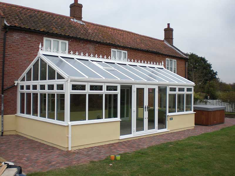 Double ended gable conservatory in Bungay