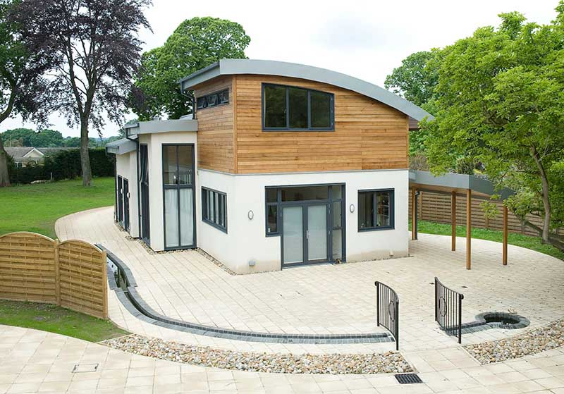 Fantastic curved roof and curved windows self build off Unthank road in Norwich
