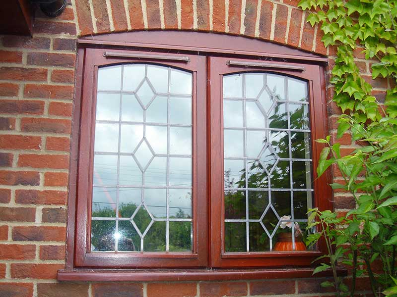 Mahogany Harwood windows, Swannington