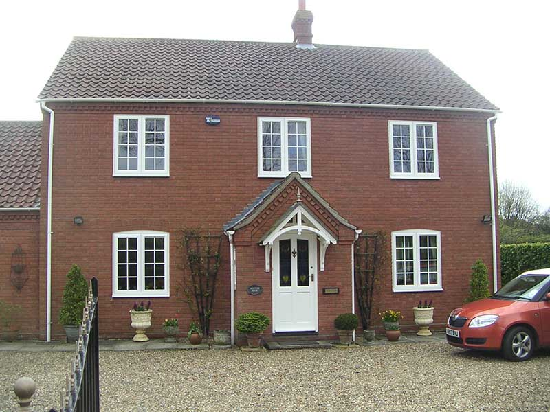White PVCu windows in Holt