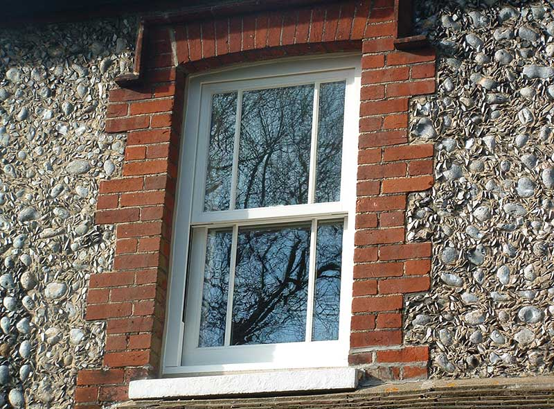 Hardwood Sash window, North Norfolk