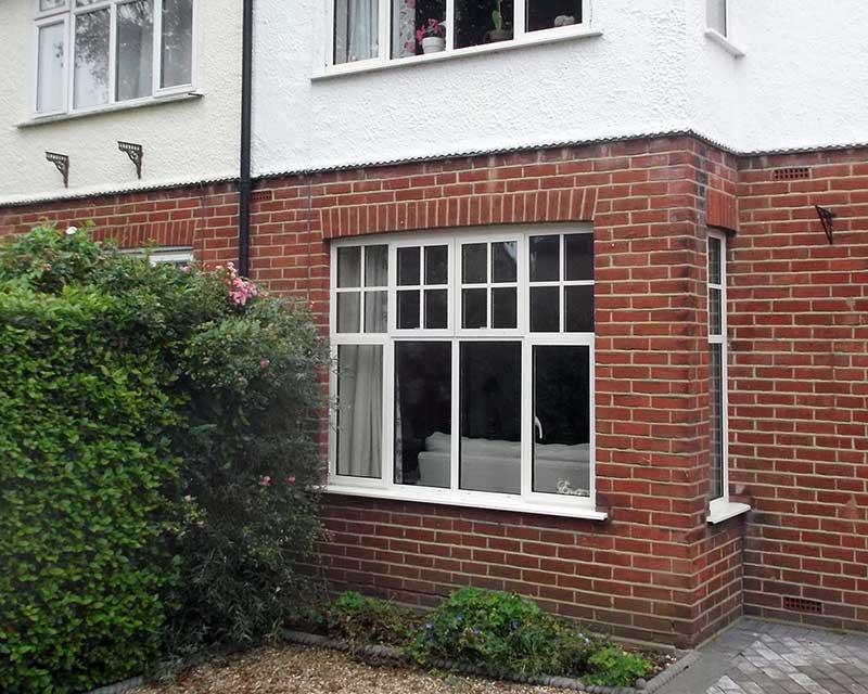 Slim White Aluminium Windows, Trafford Road, Norwich