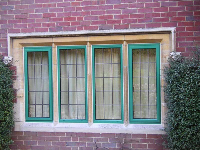 RAL 6000 Green Aluminium windows, Hellesdon