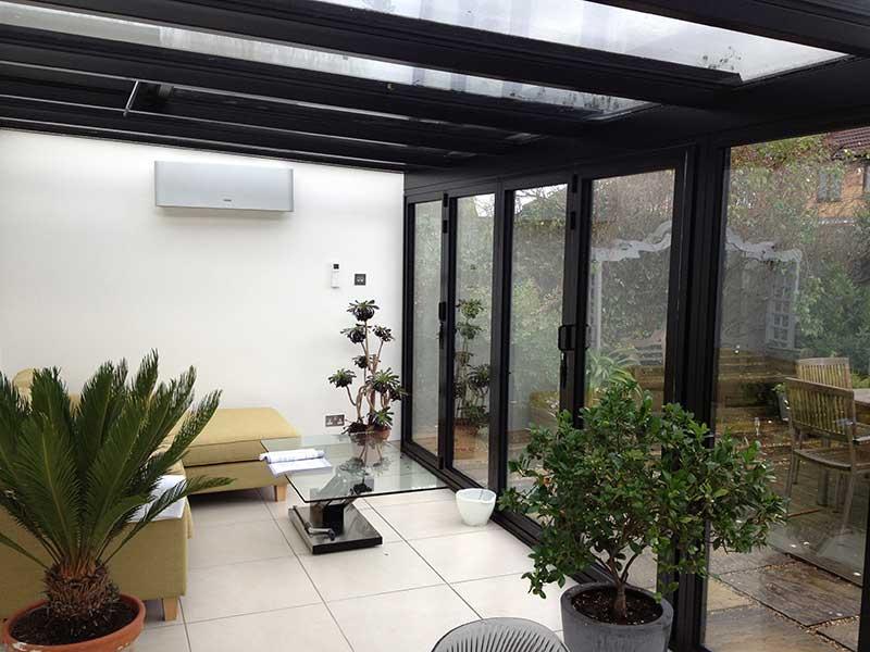Black Aluminium Lean to roof in Brundall