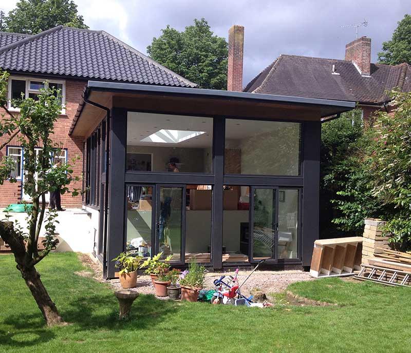 Modern Garden Room in aluminium in Thorpe, Norwich