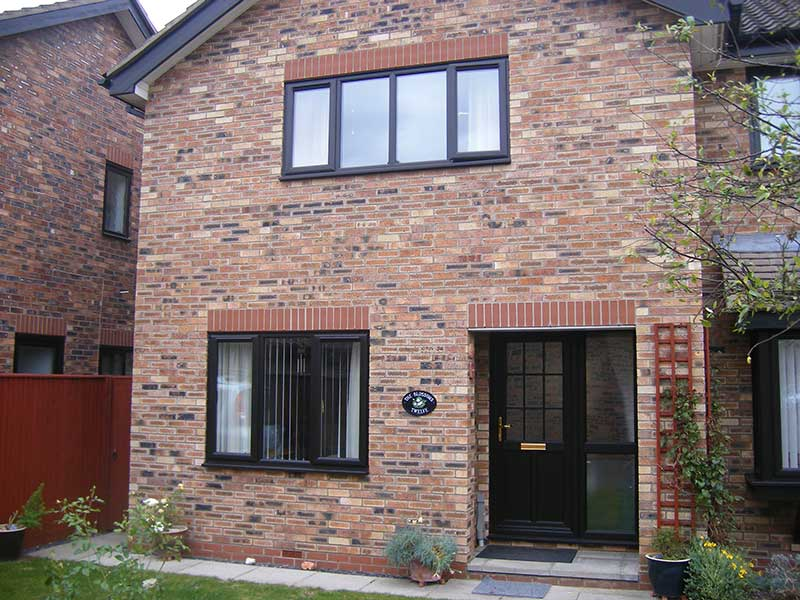 PVCu Black windows in Cambridge